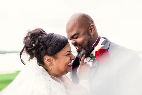 Happy Chicago newlyweds at their Harborside International Golf wedding