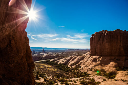 View of Arches National Park from South Window