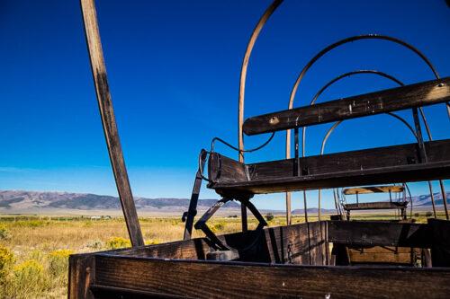 Idaho wagon skeleton at City of Rocks National Reserve