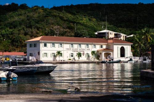 US Virgin Islands National Park visitor center on St. John