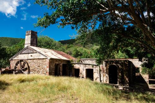 Abandoned Reef Bay sugar mill at St. John US Virgin Islands